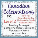 ESL Canadian Celebration Bundle of 4 (Level 2)