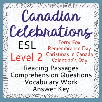 ESL Canadian Celebration Bundle of 4 (Level 2)