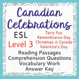 ESL Canadian Celebration Bundle of 4 (Level 3)