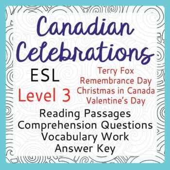 ESL Canadian Celebration BUNDLE of 4 (Level 3)