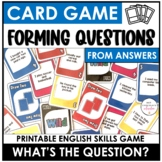 Asking Questions Card Game - Forming Wh Questions From Answers