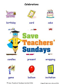 Esl Celebrations Worksheets Games Activities And Flash Cards With Audio