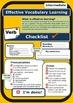 ESL Self Assessment Checklist for verb learning (Beginner-