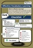 Self Assessment Checklist for Verb learning:Intermediate (ESL)