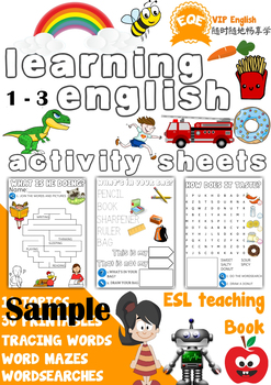 Free Sample ESL Children's printable worksheets 1-3 Very Beginners