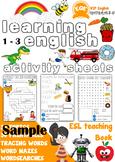 Free Sample ESL Children's printable worksheets 1-3 Very B