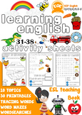 ESL Children's printable worksheets 31-38 Very Beginners