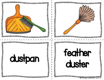 ESL Chores & Cleaning Vocabulary Activities