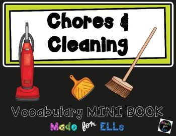 ESL Chores & Cleaning Vocabulary Flip Books