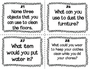 ESL  Chores & Cleaning Task Cards