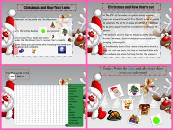 ESL Christmas PPT for beginners - pre-intermediate