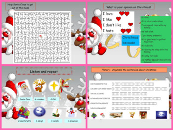 ESL Christmas activities : games and interactive powerpoint