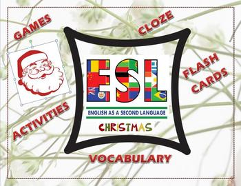 ESL Christmas Collection of Games, Activities, Cloze Passa