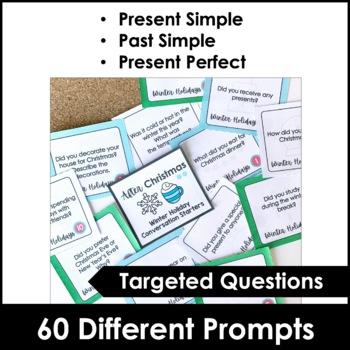 ESL AFTER Christmas BREAK Conversation Card Set 60 Cards TpT