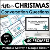 AFTER Christmas BREAK Conversation Question Card Set - 60 Cards