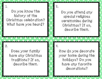 ESL Christmas Conversation Cards