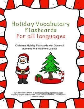 ESL Christmas Flashcards & Game Boards