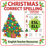 ESL Christmas Spelling Worksheet