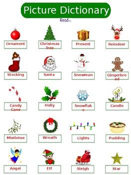 ESL Christmas Vocabulary Packet
