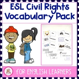 ESL Civil Rights Vocabulary Pack