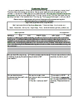 ESL Class Discussion Worksheet Package 3