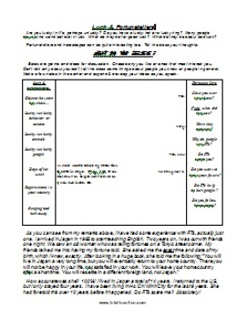 ESL Class Discussion Worksheet Package 5