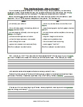 ESL Class Discussion Worksheet Package 6