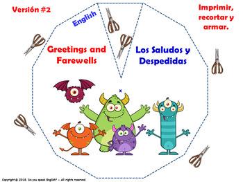 ESL Class. Greetings and Farewells. / Los Saludos y las Despedidas