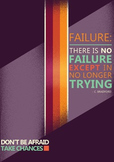 ESL Class Poster - Don'T be afraid to try