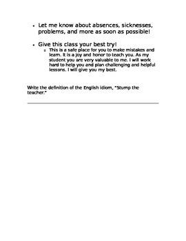 ESL Class Rules
