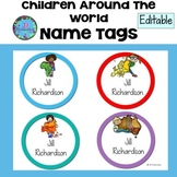 ESL Classroom Decor Name Tags - Children Around The World