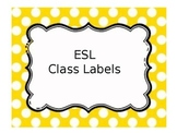 ESL Classroom Labels