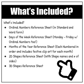 ESL Classroom Reference Sheet Starter Pack | For VIPKid, GoGo Kid, Magic Ears +