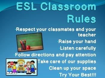 Classroom Rules for ELLS