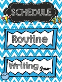 ESL Classroom Schedule Cards FREEBIE