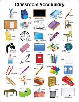 ESL Classroom Vocabulary Chart