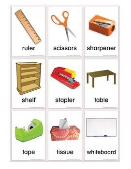 ESL Classroom Vocabulary Flash Cards
