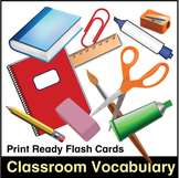 ESL Classroom Vocabulary Flash Cards