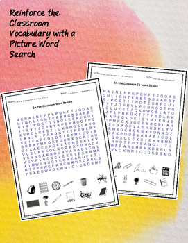 ESL Classroom Vocabulary Puzzle Pack Great for Newcomers