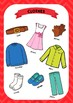 ESL Clothes vocabulary posters for years 3 & 4