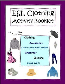 ESL Clothing Activity Booklet