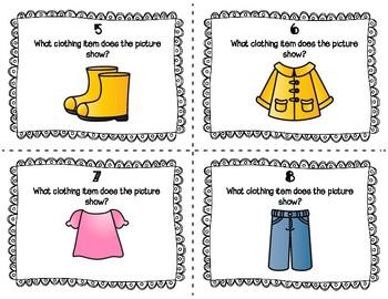 ESL Clothing Task Cards