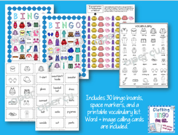 ESL Clothing bundle of games and speaking activities