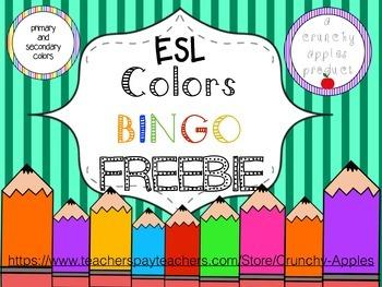 ESL Color Bingo