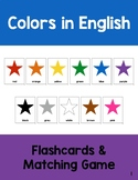 ESL Color Flashcards and Matching Game