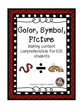 ESL- Color, Symbol, Picture Graphic Organizer