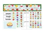 ESL Colorful Food taste & texture Poster, Worksheet, label