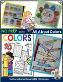ESL/ Colors Activity Pack- 20 fun printables ( including grey & gray )