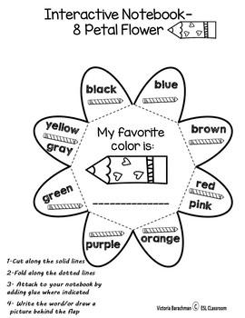ESL/ Colors Activity Pack- 20 fun printables ( including grey & gray )