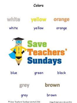ESL Colors Worksheets, Games, Activities and Flash Cards (with audio)